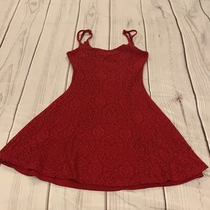 Street Wear Society Lace Red Dress Size Small